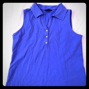 Lands End Ladies Polo Dress Blue Sz Medium 10-12